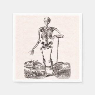 Serviette En Papier Squelette vintage drôle