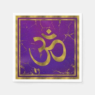 Serviette En Papier Symbole d'OM d'or - Aum, Omkara sur le