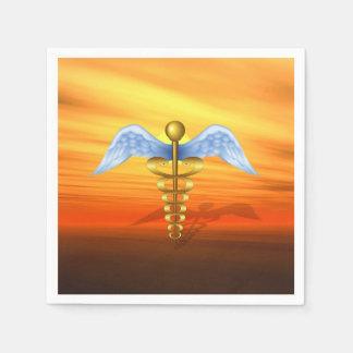 Serviette En Papier Symbole médical de caducée