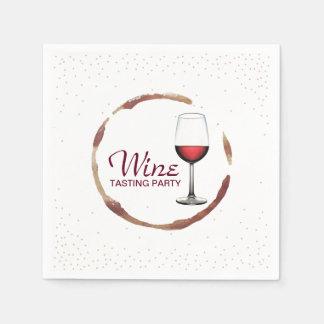 Serviette En Papier Tache chique en verre de vin de partie