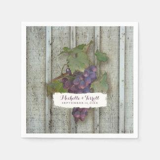 Serviette En Papier Thème personnalisé de raisin de cuve de décor de