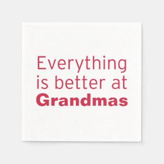 Serviette En Papier Tout est meilleur à la grand-maman