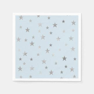 Serviette En Papier Toutes serviettes de couleur avec des étoiles