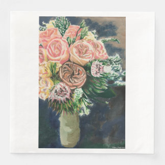 Serviette En Papier Une de serviettes aimables d'un bouquet floral
