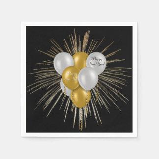 Serviette En Papier Vacances - ballons de bonne année