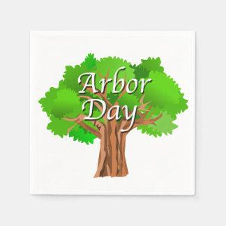 Serviette En Papier Vacances de journée de l'arbre