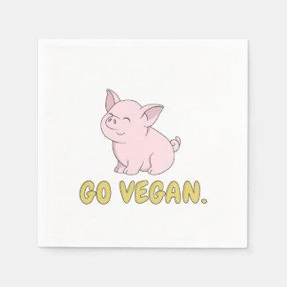 Serviette En Papier Vont le végétalien - porc mignon