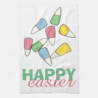 Serviette en pastel heureuse de Candycorn de Serviette Éponge
