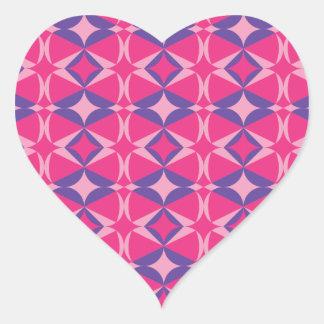 serviette fluorescente de table sticker cœur