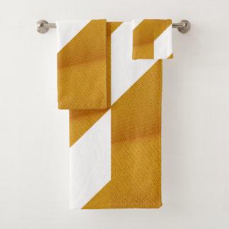 Serviette géométrique jaune et blanche foncée
