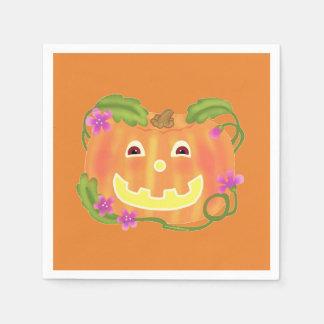 Serviette heureuse de citrouille serviette jetable