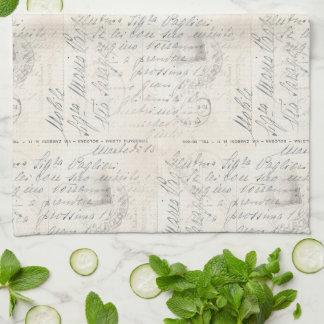 Serviette italienne de carte postale de musique serviettes éponge