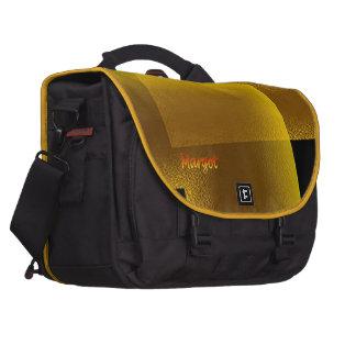 Serviette jaune noire d'ordinateur portable de sacoches ordinateurs portables