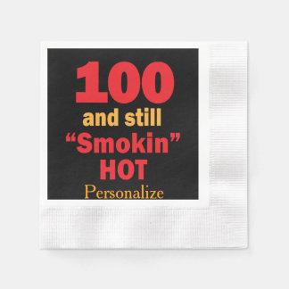 Serviette Jetable 100 et toujours anniversaire chaud de Smokin  