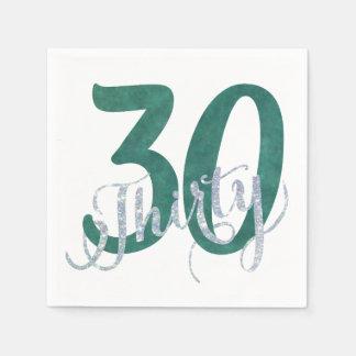 Serviette Jetable 30ème Fête d'anniversaire faite sur commande