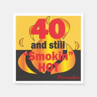 Serviette Jetable 40 et toujours Smokin chauds - quarantième
