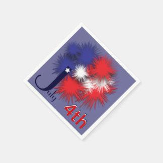 Serviette Jetable 4 juillet drapeau gonflé
