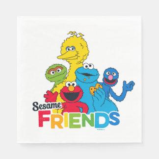 Serviette Jetable Amis de sésame du Sesame Street |