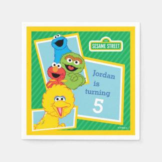 Serviette Jetable Anniversaire de copains de Sesame Street