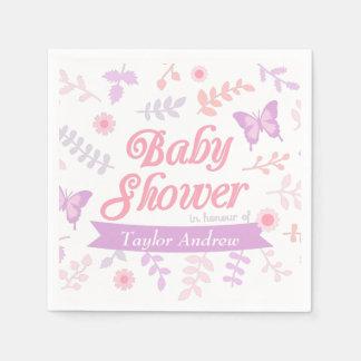 Serviette Jetable Approvisionnement floral élégant de partie de baby