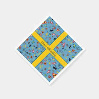 Serviette Jetable Articles suédois de culture avec le drapeau