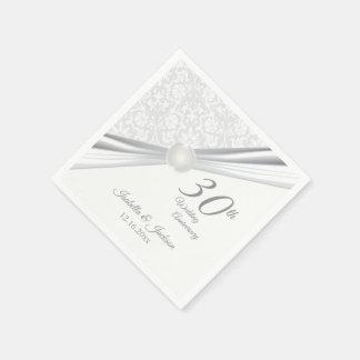 Serviette Jetable Assez 30ème conception d'anniversaire de mariage