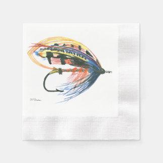 Serviette Jetable Attrait saumoné FlyFishing de mouche d'art