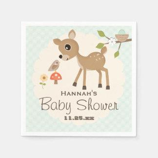 Serviette Jetable Baby shower en bon état de cerfs communs de région