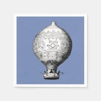 Serviette Jetable Ballon à air chaud vintage de Montgolfier