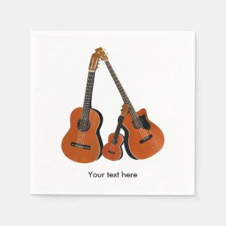 Serviette Jetable Basse acoustique et ukulélé de guitare folklorique