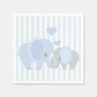 Serviette Jetable Bel éléphant de bleu de bébé