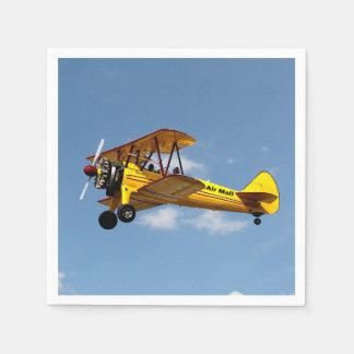 Serviette Jetable Biplan de la poste aérienne