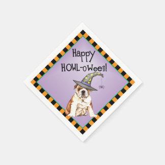 Serviette Jetable Bouledogue de Halloween