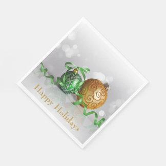Serviette Jetable Boules de Noël de Bokeh de Noël
