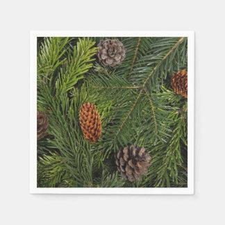 Serviette Jetable Branches d'arbre de Noël
