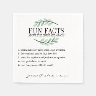 Serviette Jetable Branches d'eucalyptus d'anecdotes amusantes