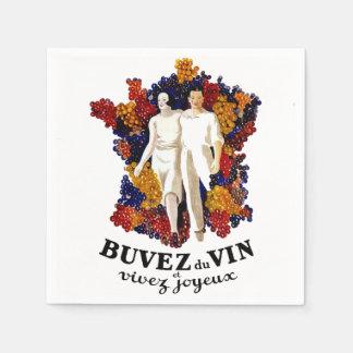 Serviette Jetable Buvez du vin et appréciez la vie