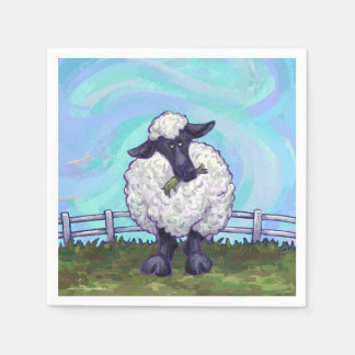 Serviette Jetable Cadeaux et accessoires de moutons