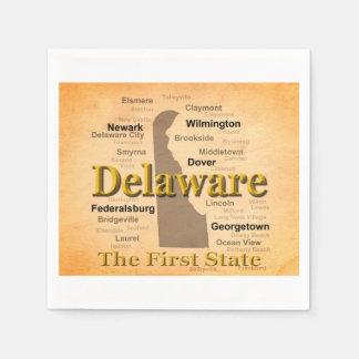 Serviette Jetable Carte âgée de fierté d'état du Delaware