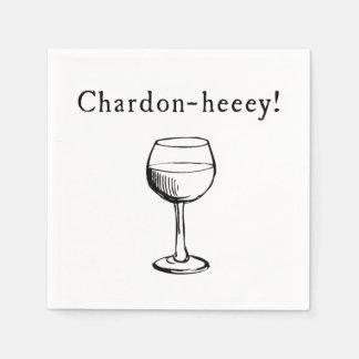 Serviette Jetable Chardon-heeey ! Serviettes d'amateurs de vin de