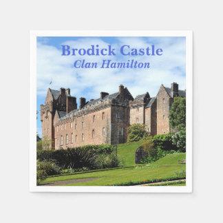 Serviette Jetable Château de Brodick - clan Hamilton