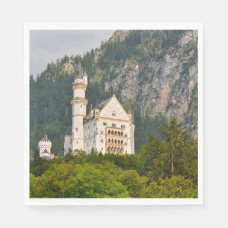 Serviette Jetable Château de Neuschwanstein en Bavière Allemagne