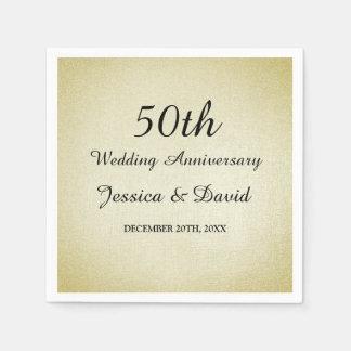 Serviette Jetable Cinquantième serviettes d'anniversaire de mariage