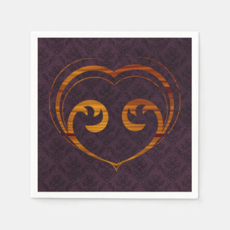 Serviette Jetable Coeur abstrait de Steampunk