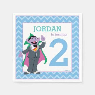 Serviette Jetable Compte von Count Birthday du Sesame Street |