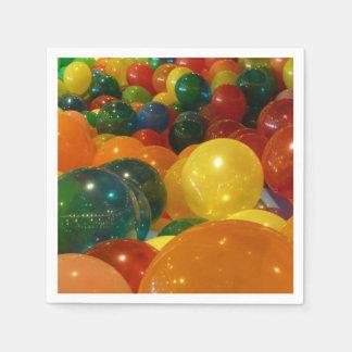 Serviette Jetable Conception colorée de partie de ballons