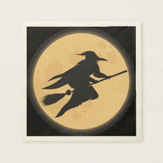 Serviette Jetable Conception vintage de silhouette de Halloween
