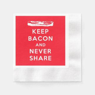 Serviette Jetable Conservez le lard et ne le partagez jamais