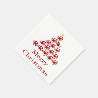 Serviette Jetable Crabe de Joyeux Noël