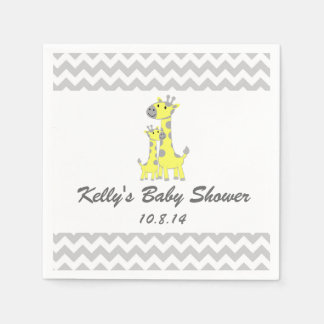 Serviette jetable de baby shower de girafe